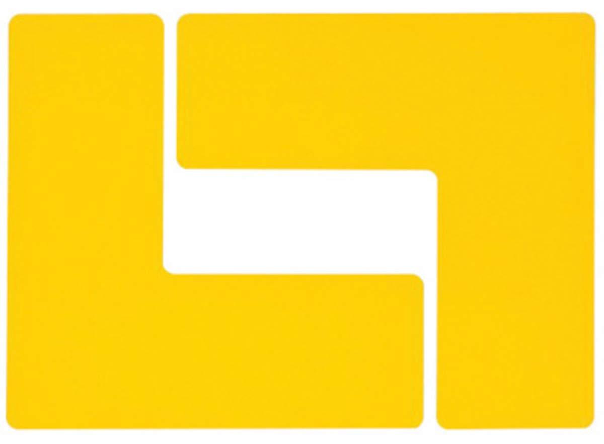 Brady 3'' Yellow .008'' B-514 Polyester ToughStripe Floor Corner Mark