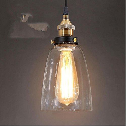 DMMSS Glass Chandelier Lamp/Retro Gold Bronze Chandeliers Rustic Den Living Room Terrace Bar Mall Glass - Mall Address Crystal