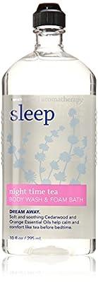 Bath & Body Sleep Night Time Tea Body Wash & Foam Bath 10 Oz