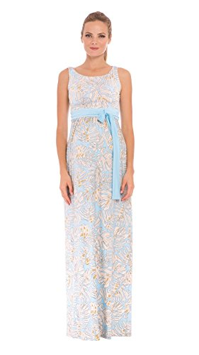 The Sleeveless Boat Neck Maxi Print Dress by Olian