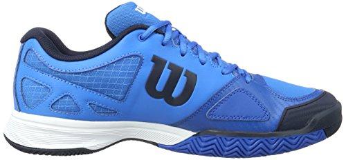 Wilson WRS322240E125, Zapatillas de Tenis para Hombre, Azul (Brilliant Blue / Navy Blazer / Imperial), 48 EU