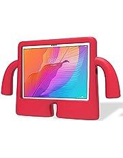 غطاء حافظة لسامسونج جالاكسي تاب A7 2020 10.4 بوصة (500 / T505) غطاء لجهاز تاب S6 لايت (10.4 بوصة) كارتون مضاد للصدمات للأطفال (أحمر)