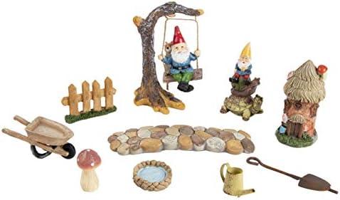 Juvale - Kit de accesorios para jardín de hadas, miniatura, gnomo y hongos, juego decorativo para césped, exterior, patio, decoración del hogar, inauguración de la casa, regalo de boda: Amazon.es: Jardín