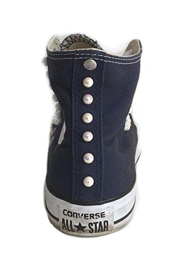 personalizzata Converse con Blu alta star all perle wx7nqxB1Pa
