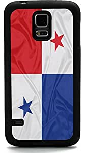 Rikki KnightTM Panama Flag Design Samsung? Galaxy S5 Case Cover (Black Rubber with front Bumper Protection) for Samsung Galaxy S5 i9600