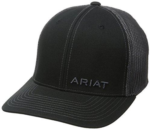 Ariat Hat (Ariat Men's Solid Corner Brand, Black, One Size)