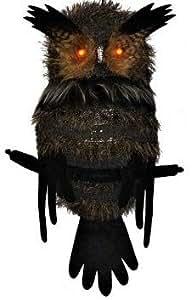 Set of 3 Owls, Halloween Owl, Halloween Decor, Owl with Lights
