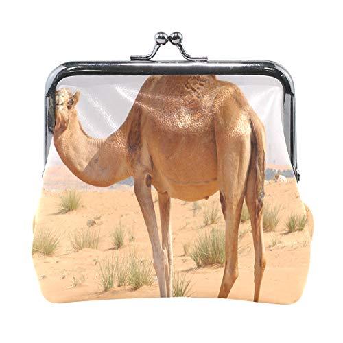 Eel Camel (Kiss-lock Camel Cute Coin Purse Wallet Portable Clutch bag)