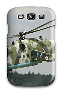 Galaxy S3 Case Slim [ultra Fit] Helicopter Military Man Made Military Protective Case Cover