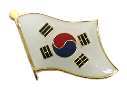 Ted and Jack - Show Your Pride in Your Nation Metal and Ceramic Lapel Pin (South Korea) ()