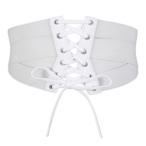 (Aecibzo Women's Elastic Stretch Wide Band Waspie Corset Waist Belt (S/Fit Waist 27.5