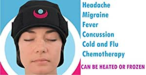 ICEKAP Delux 2.0 - Cooling and warming compress cap for headaches and migraines (Extra Large-up to 23 inches)