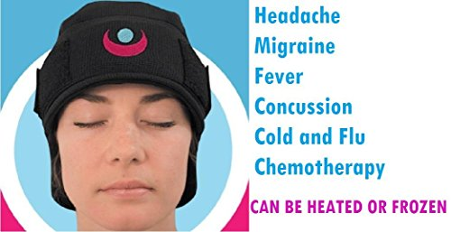 Delux Gel - ICEKAP Delux 2.0 - Cooling and warming compress cap for headaches and migraines (Extra Large-up to 23 inches)