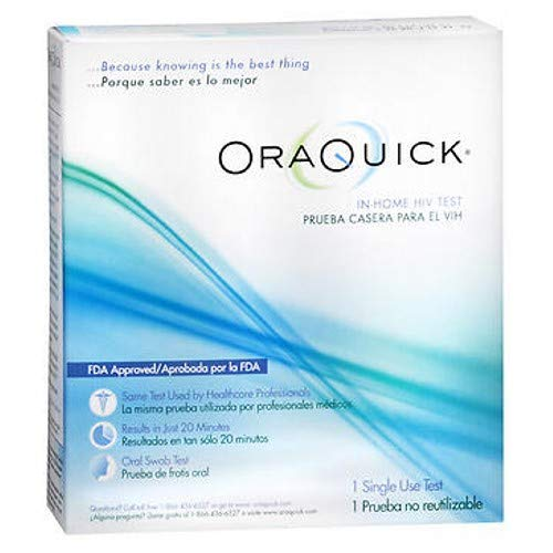 ORAQUICK In-Home HIV Test 1 ea (Pack of 3) by Oraquick