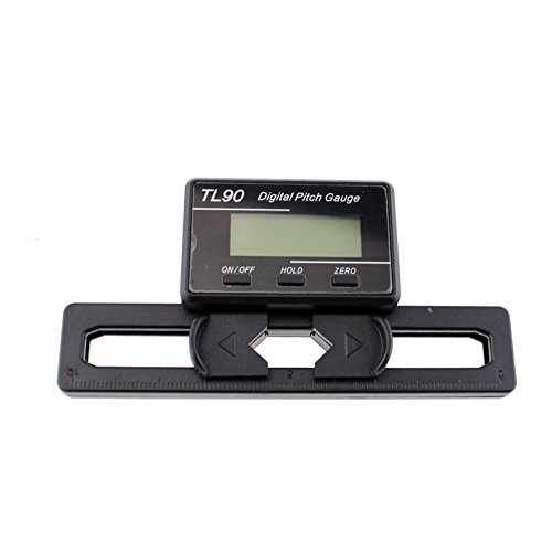 SoloGood TL90 LCD Display Digital Pitch Gauge Screw Pitch Gauge with Gyro Sensor for RC Airplane Helicopter ST250-800 Size by SoloGood (Image #2)