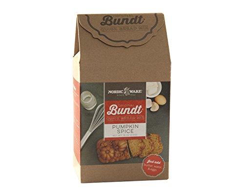 Nordic Ware 77726 Gourmet Bundt Pumpkin Spice Quickbread Mix, Brown (Nordic Ware Chocolate Cake)