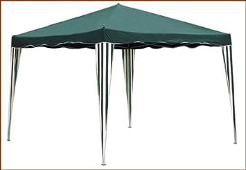 Tente de jardin pliante pergola 3x3m Divodurum toile verte barnum ...
