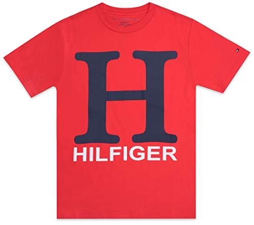 - Tommy Hilfiger Little Boy's H logo tee shirt Shirt, poppy red, 4