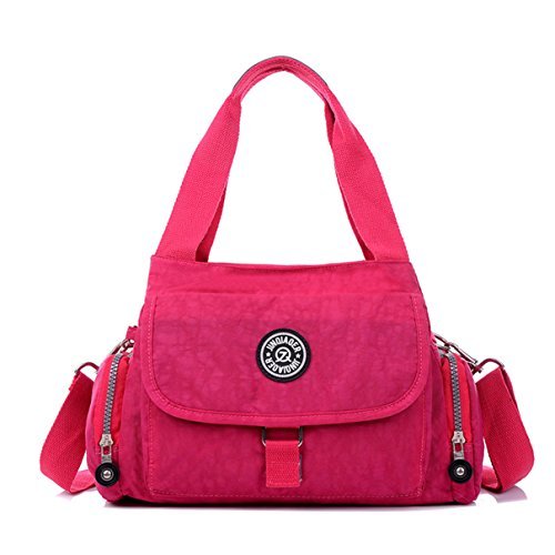 Tiny Resistant Red Cross Rose Pure Shoulder Girls Women Tote Body Handbag Premium Bag Chou Water Color amp; for Nylon FqBw1qg