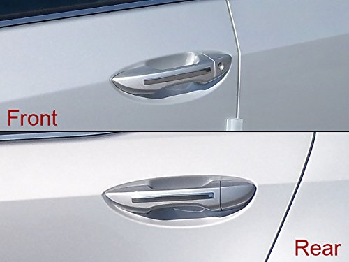 Chrome Door Handle Accents - QAA FITS COROLLA 2014-2018 TOYOTA (4 Pc: Stainless Steel Door Handle Accent Trim Strip, 4-door) DH14112
