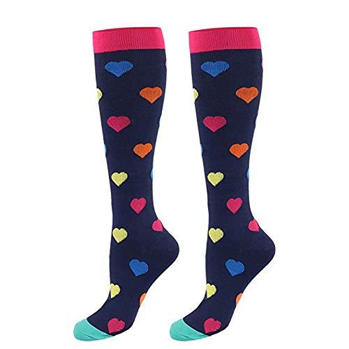 e3a17c88a Calcetines de compresión para mujeres y hombres: los mejores para correr,  deportes atléticos, crossfit (E-1-Pares, L/XL)