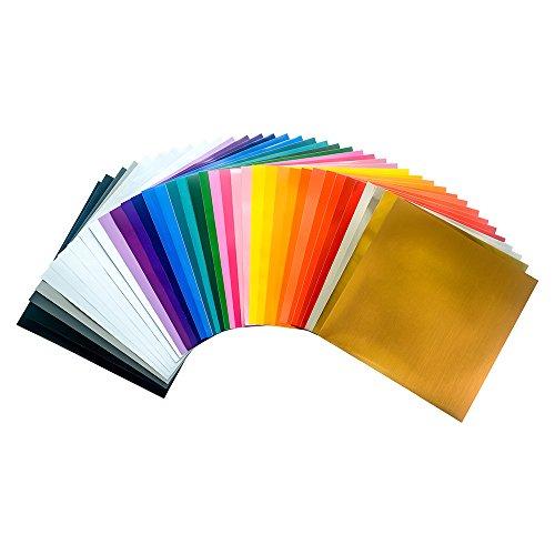 Teckwrap 12 Quot X12 Quot Permanent Assorted Adhesive Vinyl Sheets