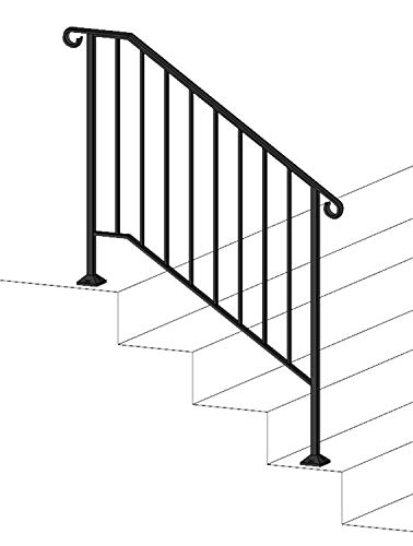 - DIY Iron X Handrail Picket #3 Fits 3 or 4 Steps
