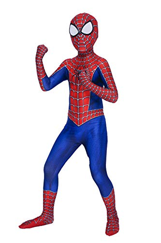 Kids Amazing Spider Man Costume (Heybest Superhero Dress Up Costume Cosplay Zentai Suit Spandex Full)