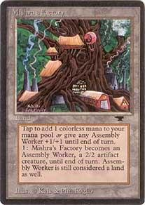Magic: the Gathering - Mishra's Factory (Summer) - Antiquities (Antiquities Magic Card)