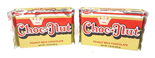 King Choc Nut Peanut Milk Chocolate, Net Wt 7.05oz (200g), 2 Pack