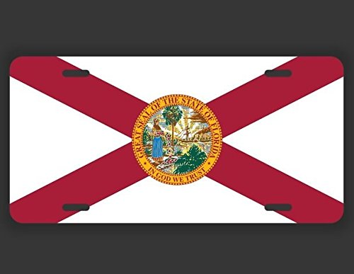- JMM Industries Florida State Flag FL Vanity Novelty License Plate Tag Metal Car Truck 12-Inches by 6-Inches UV Resistant Print UVP013