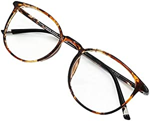 574241dd08 ENTER Reading Glasses Round Computer Readers for Women Men Eyeglasses Frames  for Prescription Lens (C12