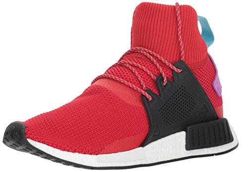 adidas Originals Men's NMD_XR1 Winter Running Shoe, Scarlet/Black/Shock Purple, 9 M US