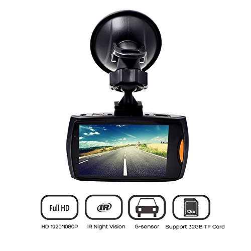 Car Dash Cam Full HD Wide Angle Lens G Sensor Loop Recording Night Vision Automotive Electronics Vehicle Surveillance Auto Dash Camera