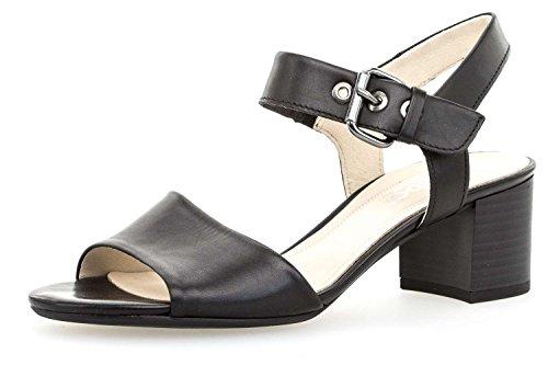 Gabor Moda Comodità Sandalette In Oltre Nero Taglie 82.920.57 Grandi Scarpe Da Donna
