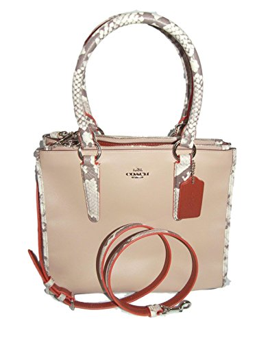 Handbag Natural in Crosby Carryall and Coach Embossed Leather Trim Python tqawnBxS