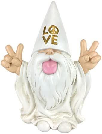 GlitZGlam Rocker Gnome George This Gnome Will Rock Your Fairy Garden and Garden Gnomes 10 Inches Tall Garden Gnome Figurine