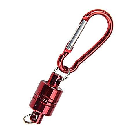 8Eninine Cuerda de Alambre magnética Anti-perdida Tamaño Compacto Llavero Llavero Soporte Herramientas Rojo