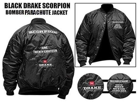2b3b7ec65a3 Men's Drake Stylish Bomber Jacket Black Scorpion June Twenty Eighteen ...