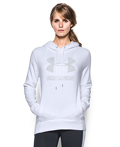 Under Armour Women's Sportstyle Favorite Fleece Hoodie, White (100), Medium