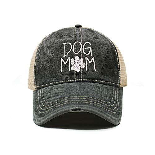 ChoKoLids Dog Mom Dad Hat Cotton Baseball Cap Polo Style Low Profile (Distressed TC102 Charcoal)