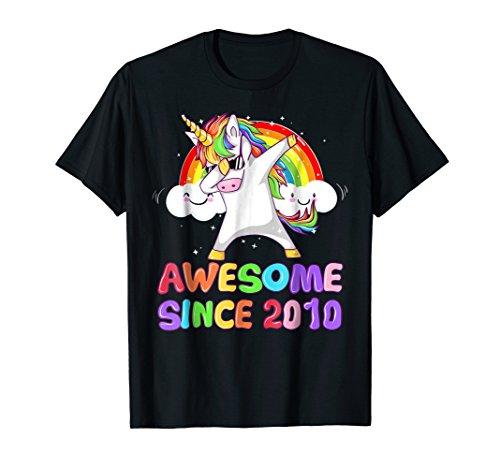 Awesome Since 2010 Unicorn Shirt Dabbing Unicorn T-Shirt ()