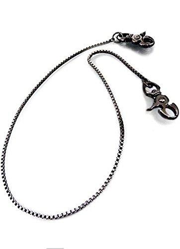 [해외]지갑 체인 남성용 지갑 체인 머리 타입 블랙 메탈 릭 디자인 [w9 / Wallet Chain Men`s Wallet Chain Twin Head Black Metallic Design [w9