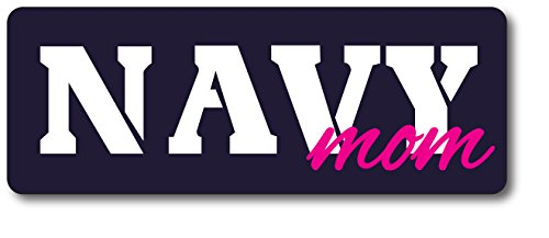 Navy Mom Magnet Decal Perfect for Car or Truck - 3x8