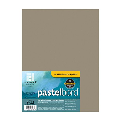 Ampersand Claybord Panel - AmperSand, Museum Series Pastelbord for Pastels, Charcoal, Pencils and Ink, Sand, 1/8 Inch Depth, 9X12 Inch (PBS09)
