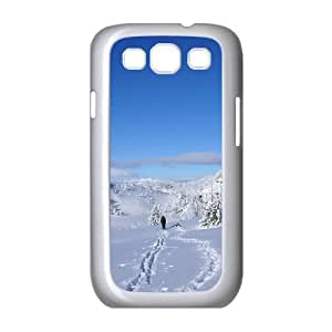 Winter Hiking Samsung Galaxy S3 Cases, Case for Samsung Galaxy S3 Mini for Women Hipster Protective Okaycosama - White