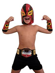 Disfraz de luchador de pressing catch para niño