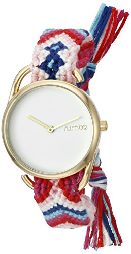 rumbatime-womens-20007-jane-gold-young-survival-coalition-quartz-metal-and-cloth-pink-watch