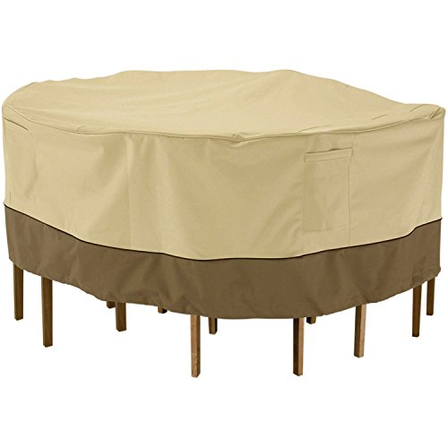 Cheap Flagup Round Patio Table and Chair Set Cover Waterproof & Dustproof Outdoor Furniture Cover(178 x 178 x 58cm)