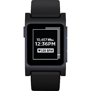 Pebble 2 + Heart Rate Smart Watch Black/Black